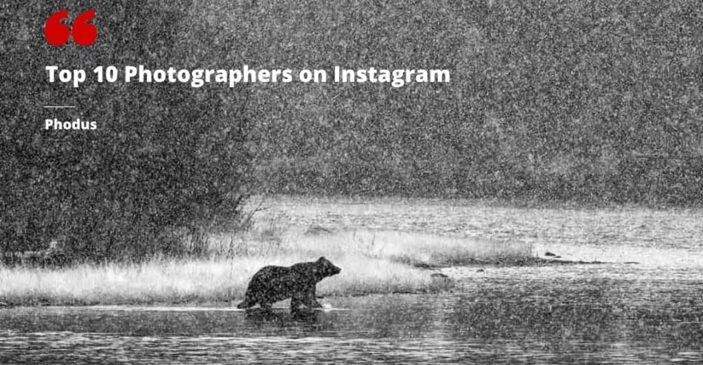 Top 10 photographers on Instagram
